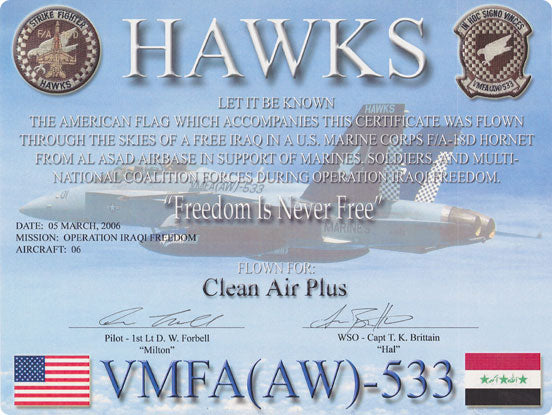 Clean Air Plus does what it can to support the brave men and women protecting our way of life on a daily basis.
