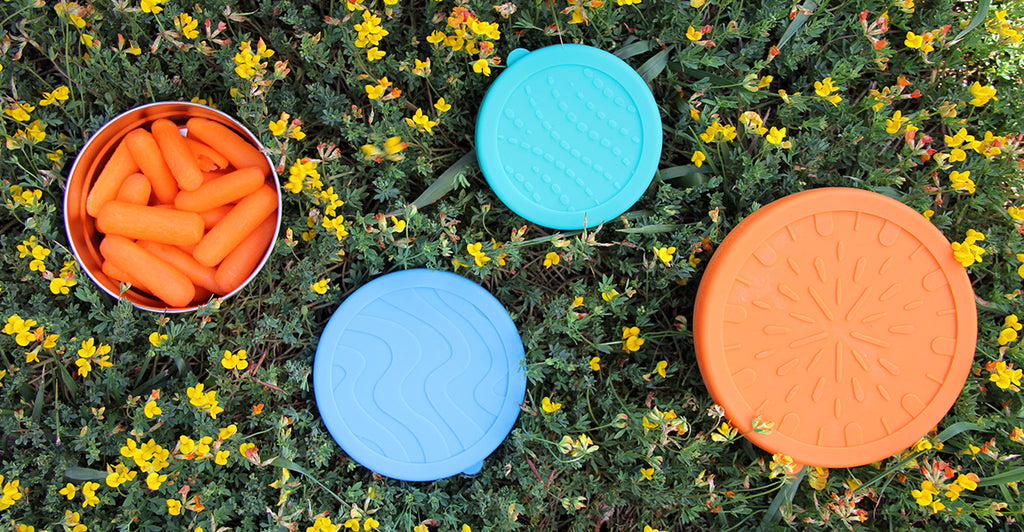 Plastic-free Seal Cup Trio lunchbox set by Blue Water Bento is waste-free road-trip essential
