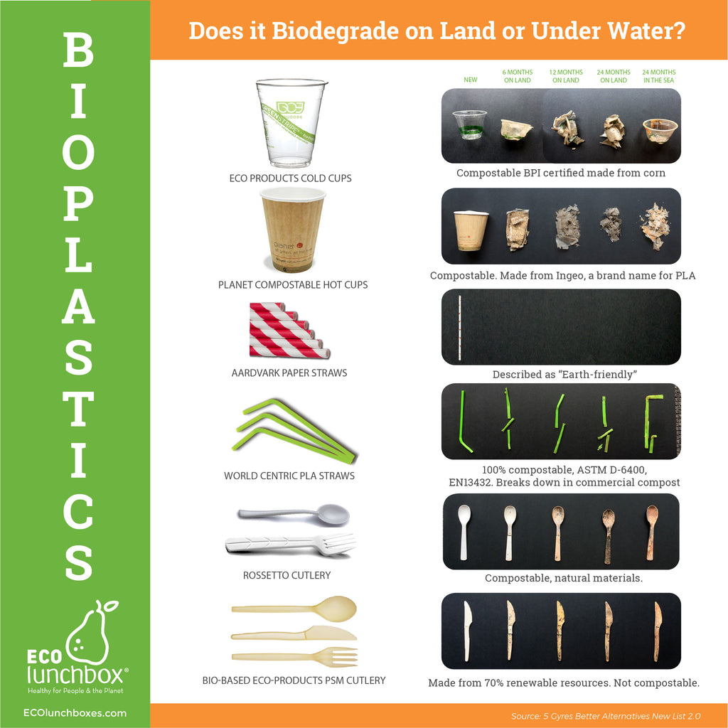 limitations of bioplastics infographic