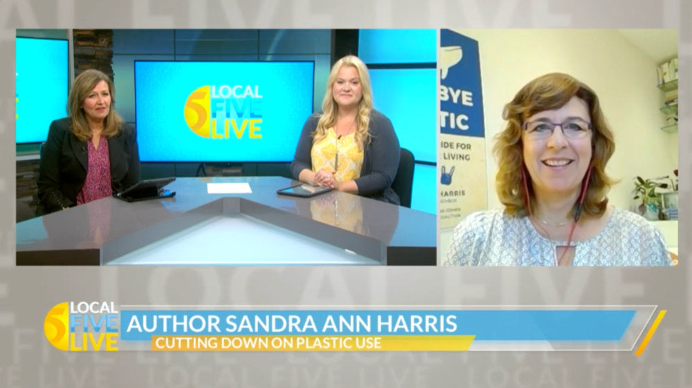 Sandra Ann Harris on Local 5 Live in Greenbay, Wisconsin about how and why she created the ECOlunchbox