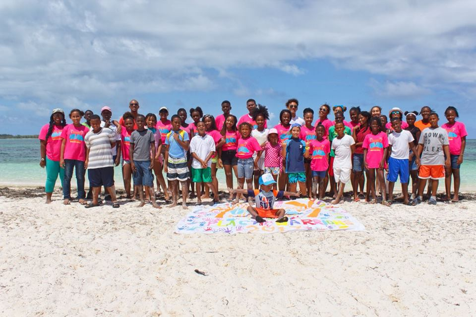 2017 campers at Plastic Pollution Education and Ocean Conservation Camp Plastic Campers from the main program on Eleuthera Island.