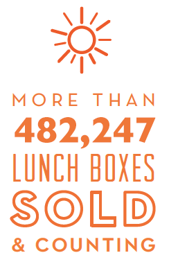 more than 482,247 eco-friendly lunch boxes sold
