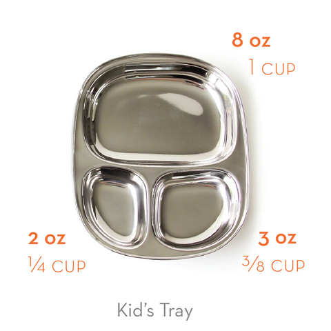 ECOlunchbox Kid's Tray Portion Size