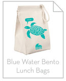 BLue water bento bags