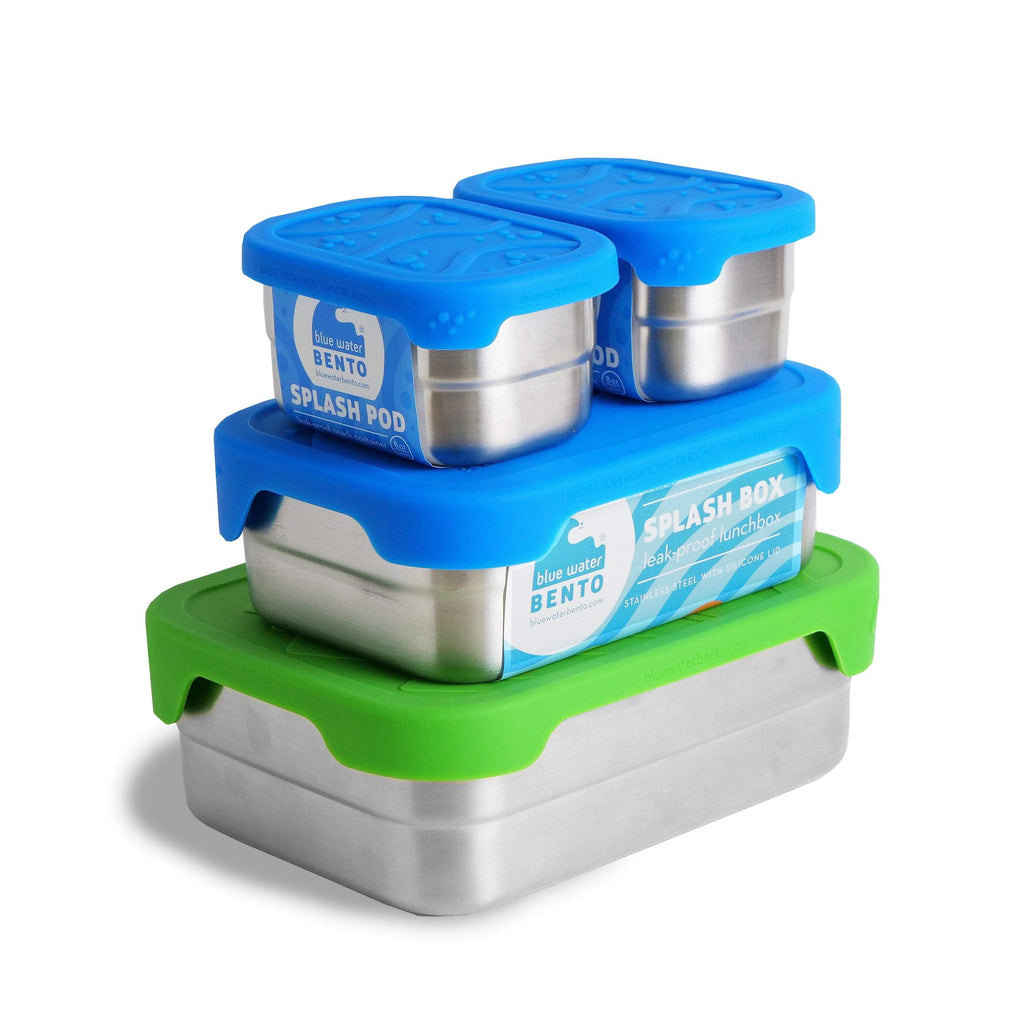 Blue Water Bento Lunch Kits Splash Box XL Splash Box and Pods Set