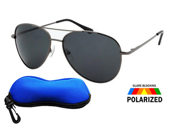 Polarized Aviator Sunglasses / FREE ZIPPER CASE