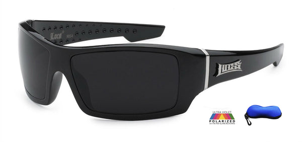 Premium Polarized Wrap Locs With Logo-PZLOC9054BK