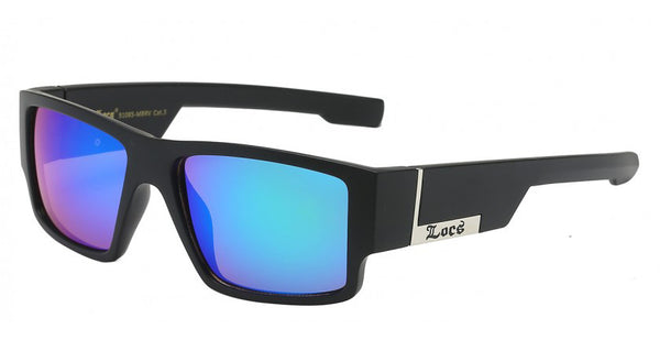 Locs  Casual  street Wear Square Wrap Mirror Lens Unisex Shades