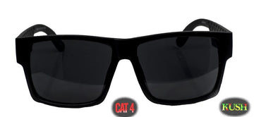 "Gangster locs  SUPER dark "" Kush"" Logo Sunglasses Cat 4"