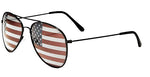 Oval Aviator Sunglasses with US Flag