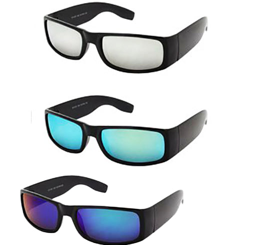 Dark  reflective colored mirror  lens