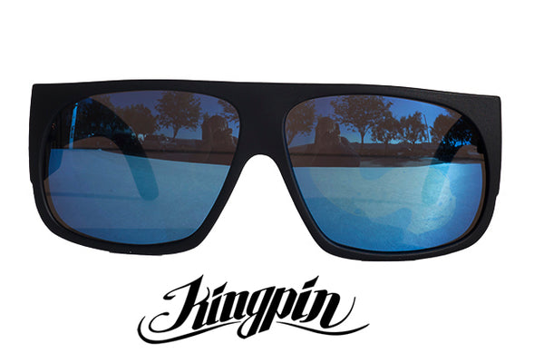 "LOCS "" KINGPIN"" Shield Super Dark / Blue Lens"