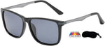 Polarized PZ-AL-204 Aluminum Temple Posh Iconic Hipster Square