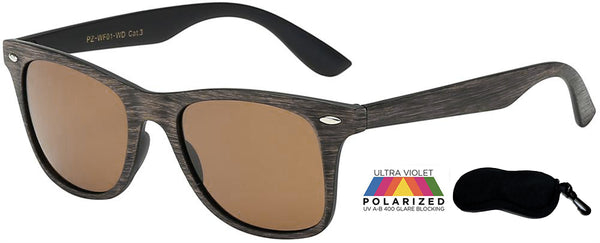 Polarized Locs  wood finish ( No Logo)