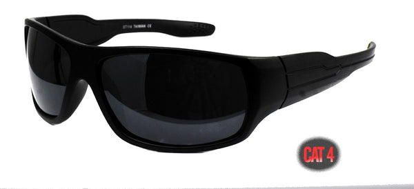 Gangster locs  SUPER dark black sunglasses Cat 4