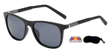 Polarized PZ-AL-205 Aluminum Temple Jazzy Casual Square