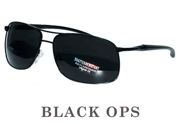 BLACK OPS Super Dark  Cat 4 Aviators