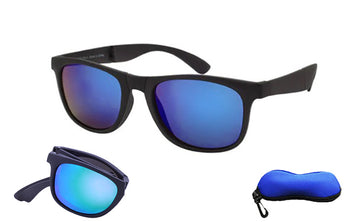 Blue Colored Lens Folding Sunglasses