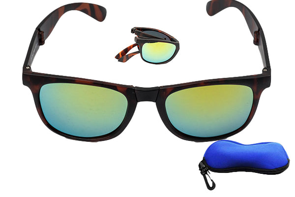 Green-Colored Lens Folding Sunglasses
