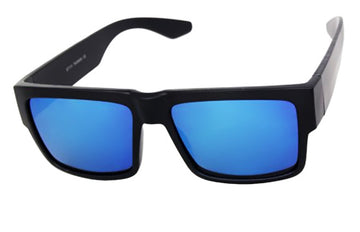 Dark Reflective Blue Lens locs Sunglasses