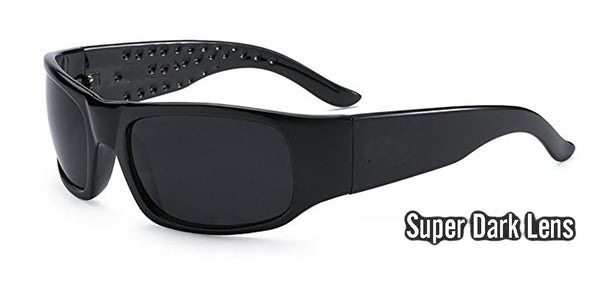 Super dark sunglasses for sensitive eyes