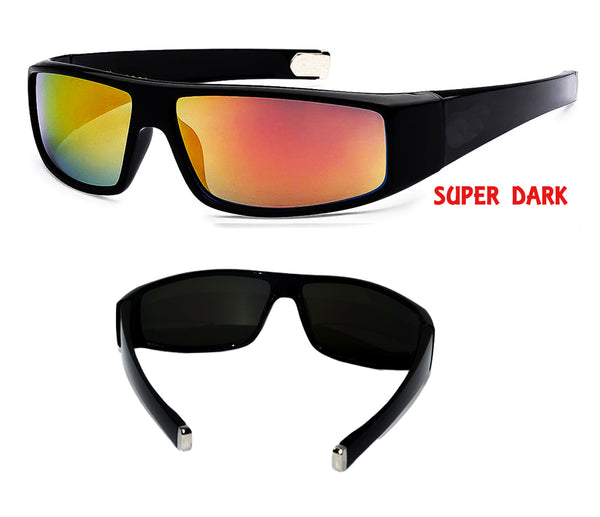 Super Dark  Yellow Red reflective  mirror lens