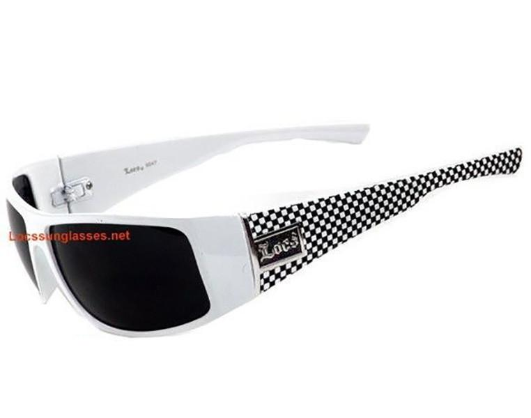 White Frame white locs sunglasses- gangster white locs sunglasses ...