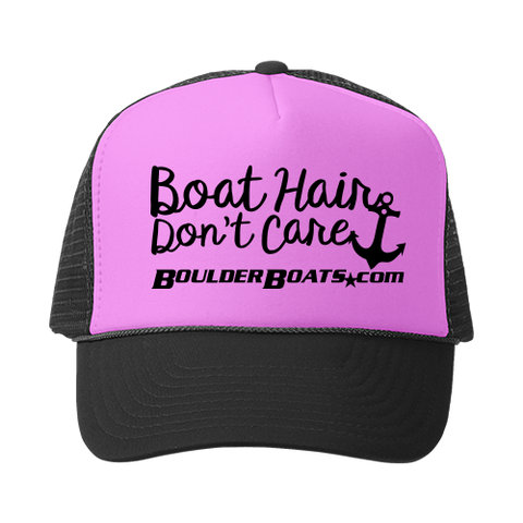Boulder Boats Boat Hair Don't Care Trucker Hat