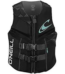O'Neill Womens Reactor Vest- Black/Black