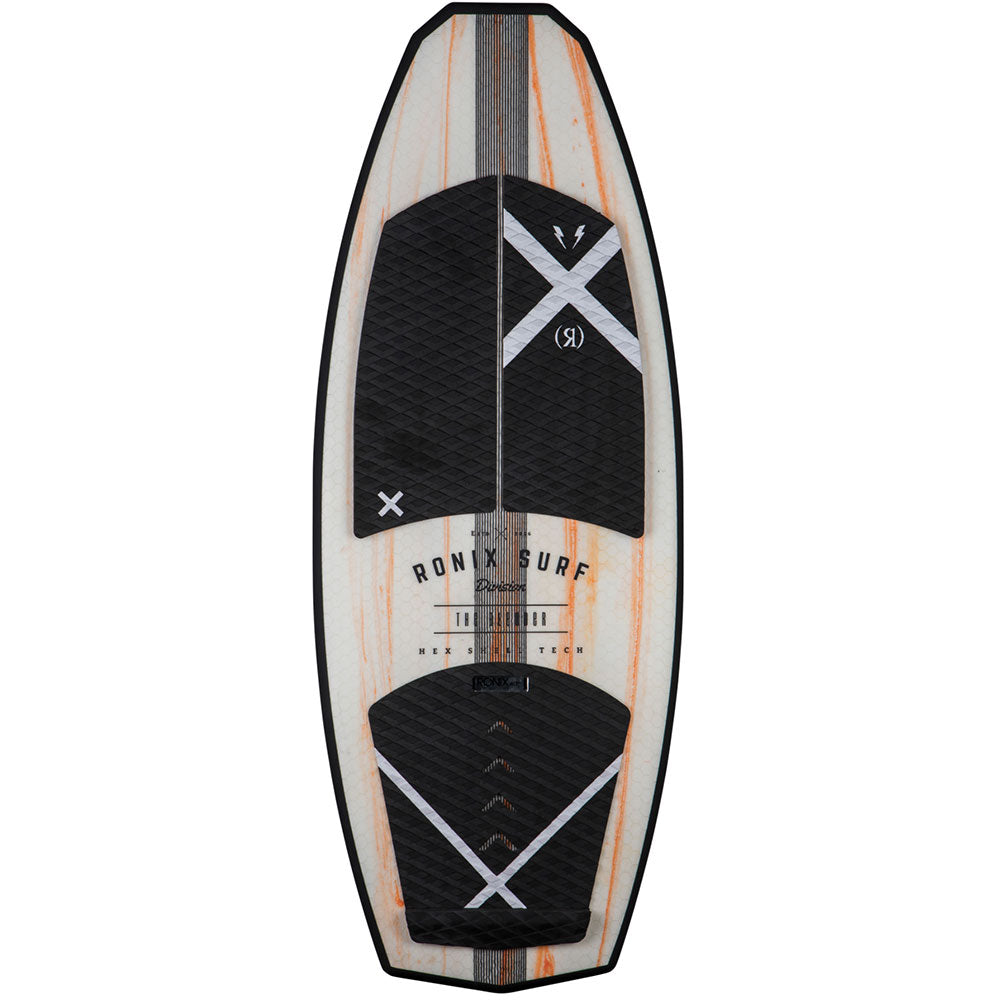 2018 Ronix Hex Shell - The Blender - Natural/Paint Drip Orange WakeSurf