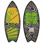"2018 Super Sonic Space Odyssey - Fish - Stripe White - 3'9"" WakeSurf"