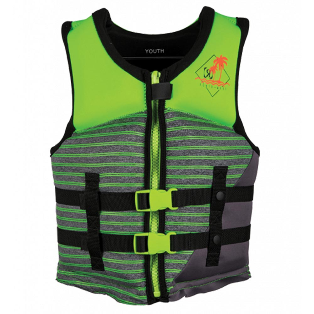 2019 Ronix Vision Boy's - CGA Life Vest - Lime Heather - Youth (50-90lbs)