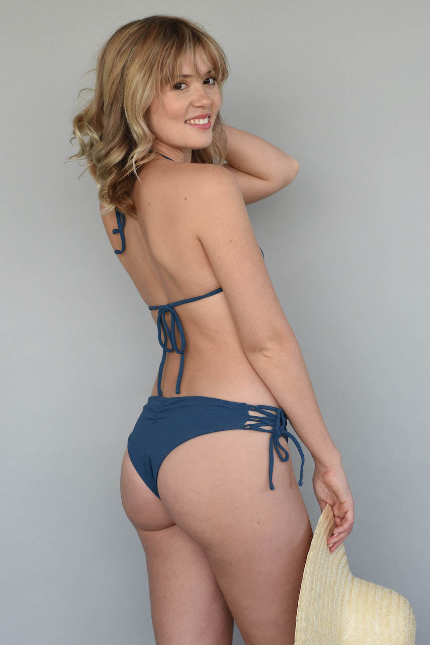 Ribbed Antique Blue + Midnight CAZLEY CHEEKY