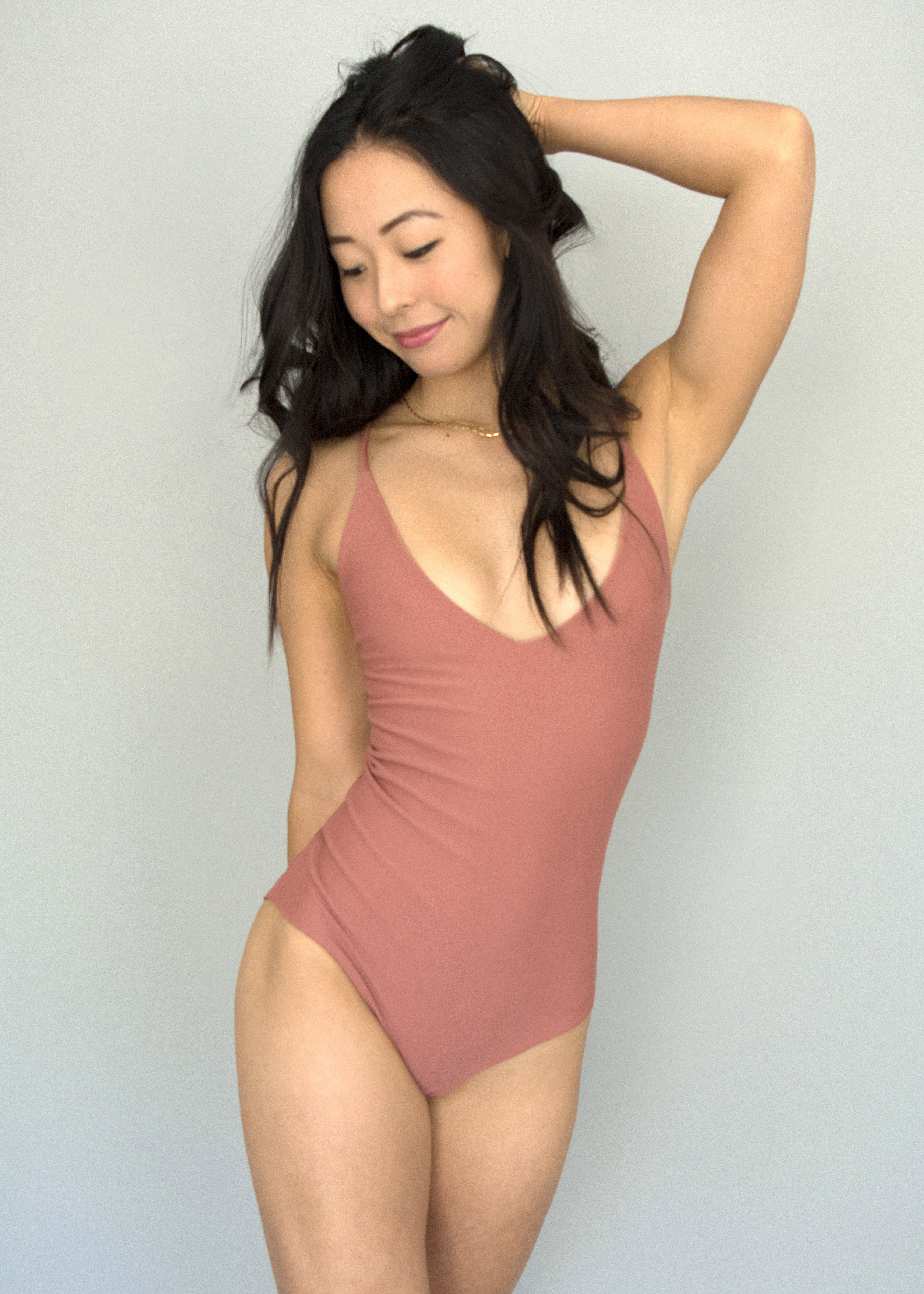 Dusty Rose + Naked Paradise LONDON ONE PIECE