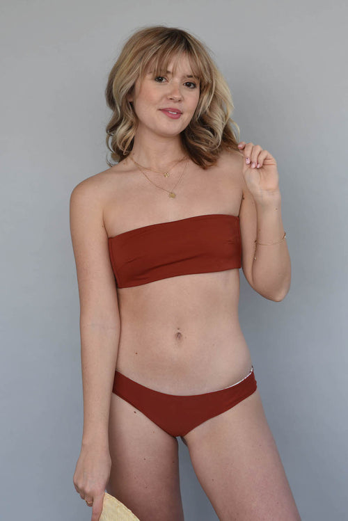 Spice + Hibiscus Floral BENNETT BANDEAU