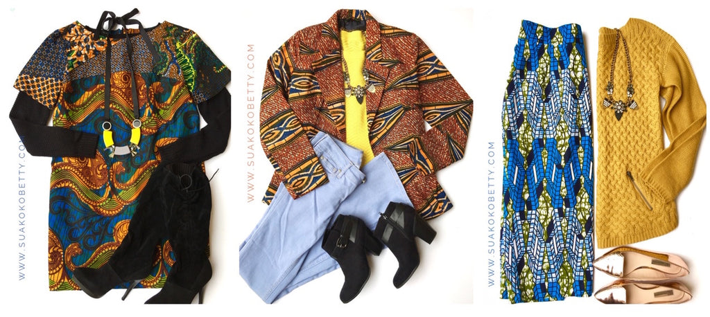 How to wear African prints in the winter