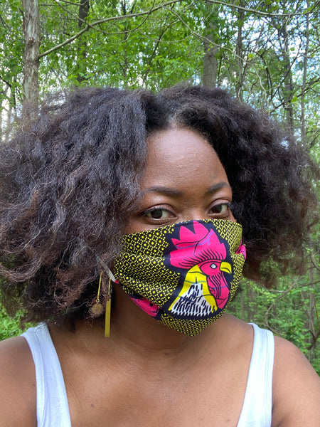 Fabric Face Mask - Lemon - suakoko betty