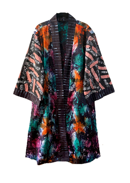 Hand-dyed Batik Fatima Duster - Citrus PREORDER - suakoko betty