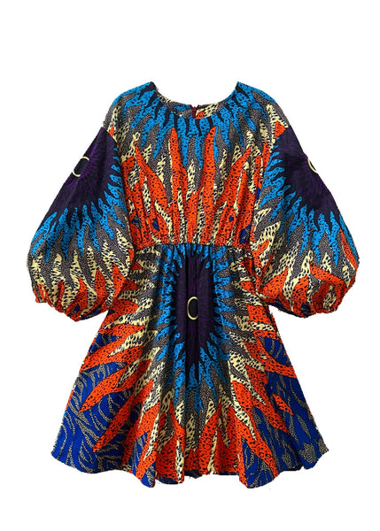 African Print Nina Dress - Tiger - suakoko betty