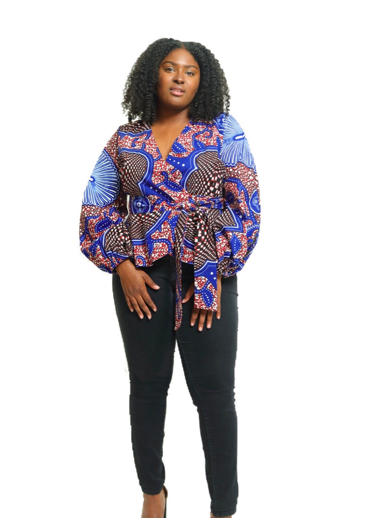 Wokie Wrap Blouse - suakoko betty