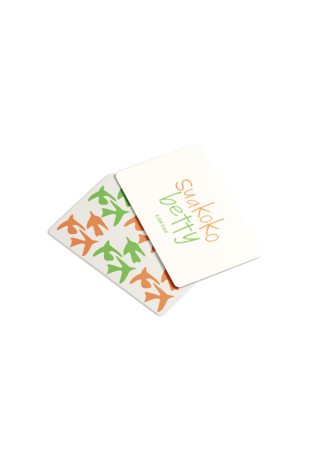 suakoko betty Gift Card - suakoko betty