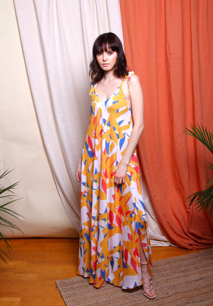 SUAKOKO Kona Gown - Blush/Marigold - suakoko betty
