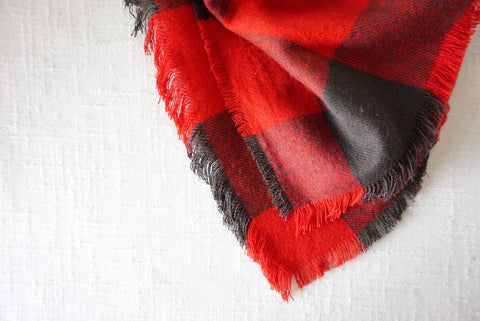 Flannel Scarf - Red & Black