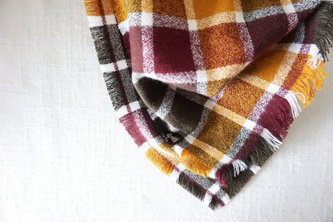 Flannel Scarf - Rust