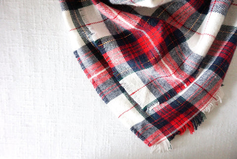 Flannel Scarf - Red & Gold Plaid