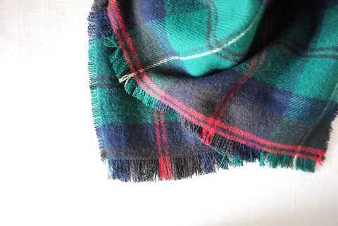 Flannel Scarf - Royal Green