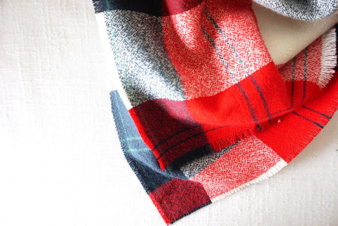 Flannel Scarf - Red Plaid