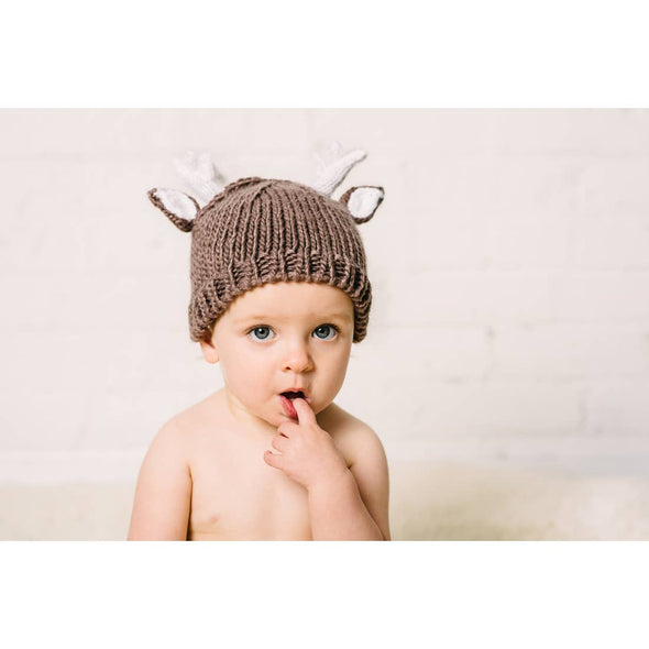 Deer Hand Knit Hat