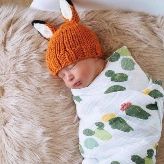 Fox Hand Knit Hat
