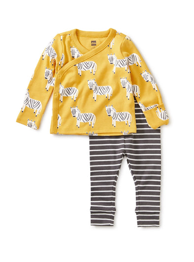 Zebra Wrap Top Baby Outfit